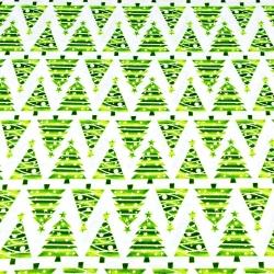 Wzór świąteczny choinki w rzędach zielone na białym tle