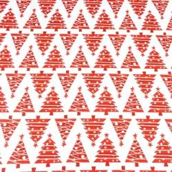 Wzór świąteczny choinki w rzędach czerwone na białym tle