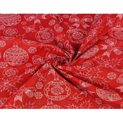 Wzór świąteczny rysowany biały na czerwonym tle