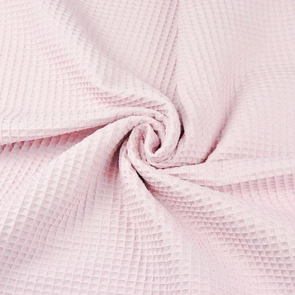 Wafel cienki bawełniany pudrowy róż