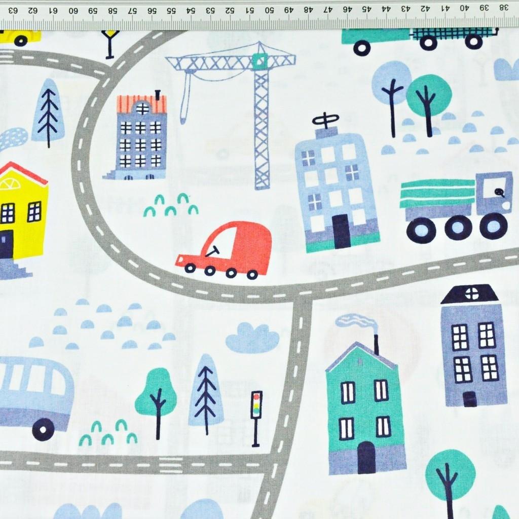 samochody na ulicach żółto niebieskie na białym tle