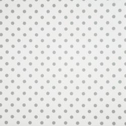 Tkanina w grochy szare na białym tle