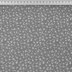 łączka MINI z kropeczkami biała na szarym tle