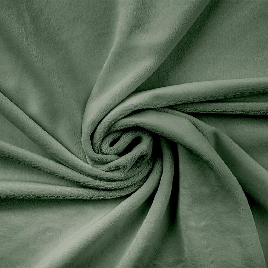 Materiał Minky gładki Premium szałwia (Jadeite)