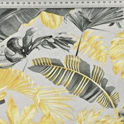 liście złoto grafitowe na szarym tle