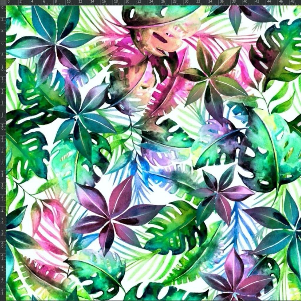 copy of Dresówka z pętelką dżungla kolorowa na białym tle - druk cyfrowy