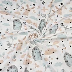 jeżyki niebiesko szare z królikami na białym tle