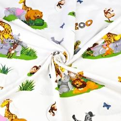zwierzątka w ZOO na białym tle