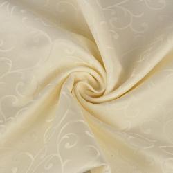 Tkanina obrusowa plamoodporna ecru - wzór ornament