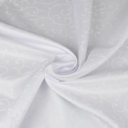 Tkanina obrusowa plamoodporna biały - wzór ornament