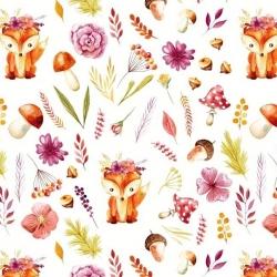 liski jesienne na białym tle