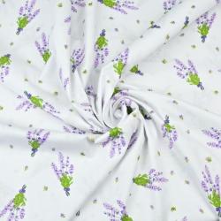 Kwiaty gałązki lawendy na białym tle