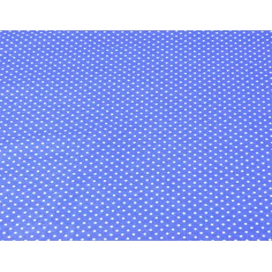 Kropki białe na ciemno niebieskim tle
