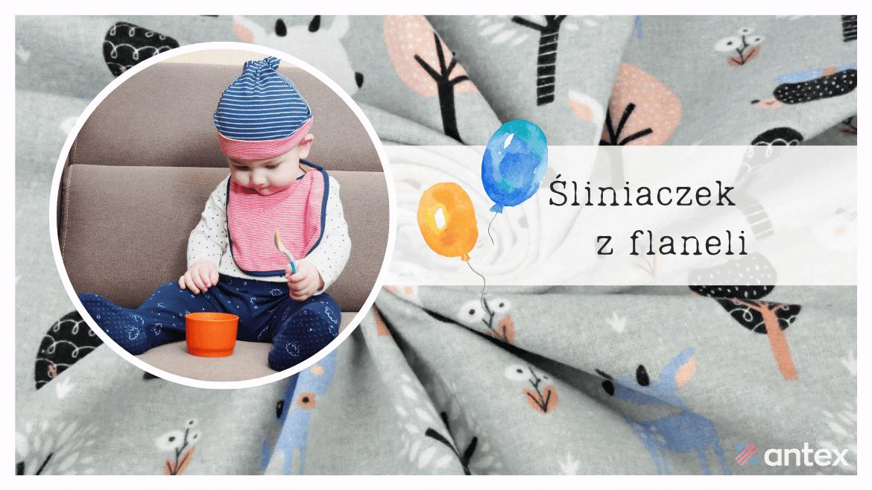 Śliniaczek z flaneli dla dzieci