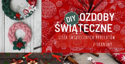 DIY Ozdoby świąteczne: dekoracje z tkaniny bawełnianej