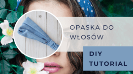 Opaska do włosów DIY tutorial
